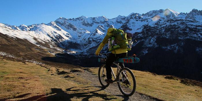 Vélo ski dans les Pyrénées