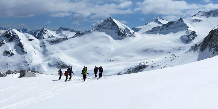 raid en ski de rando autour de l'Adamello