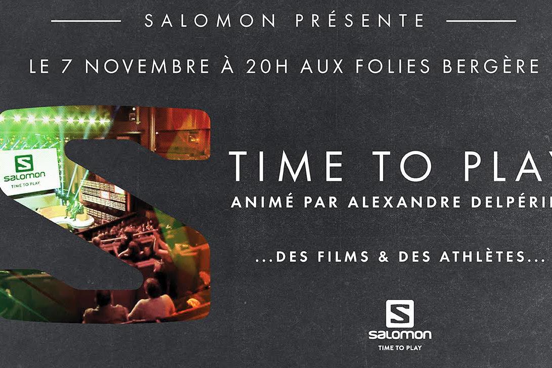 Soirée Salomon Time To Play le 7 Novembre aux Folies Bergères