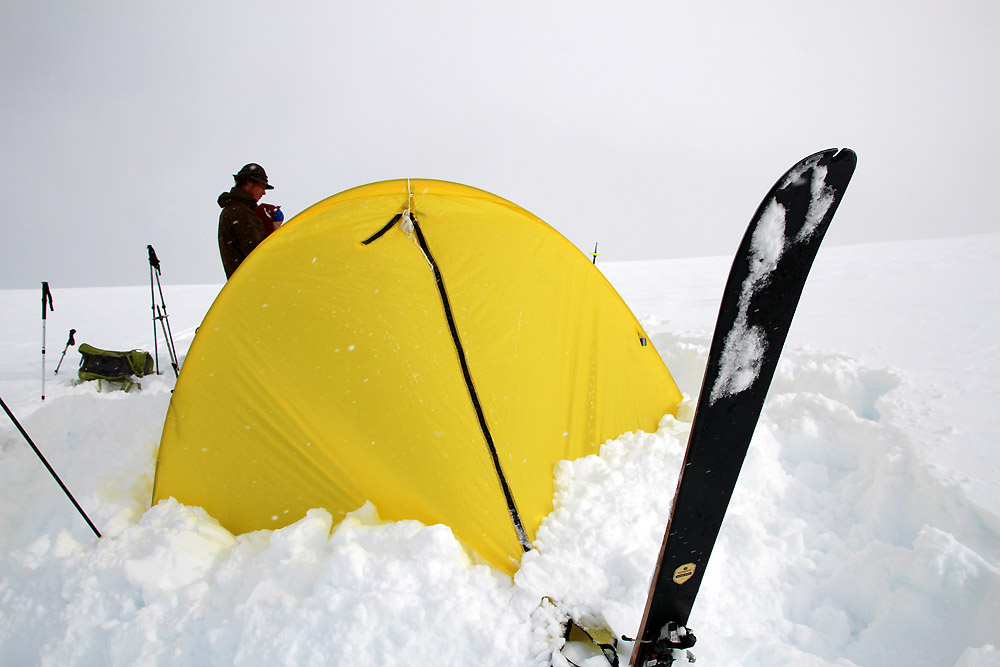 Quoi de mieux pour attendre l'éclaircie qu'une tente ??