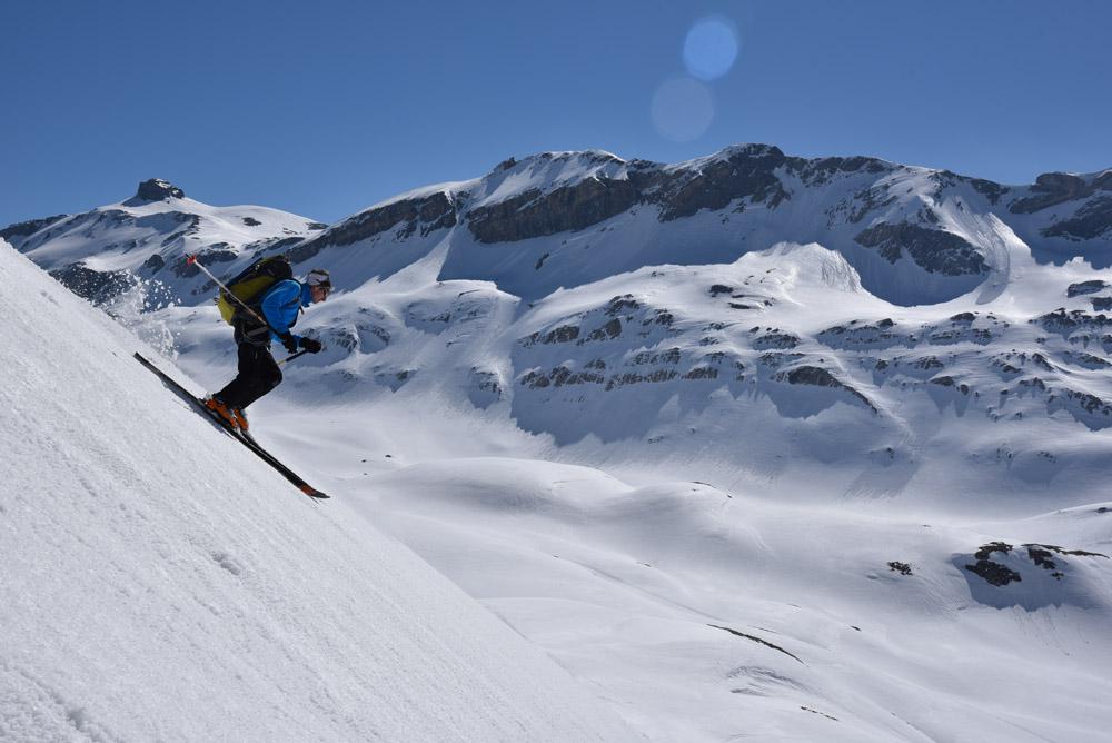 Raid à ski des Diablerets à Crans-Montana