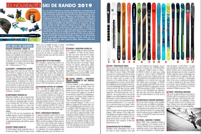 Le matériel ski de rando & splitboard 2019