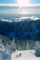Ski avec vue sur le Pacifique...wahou...