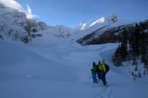 Fin de descente dans une vallée glacière