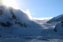 Le Columbia icefield, impressionnant