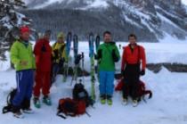 L'équipe au complet à Lake Louise