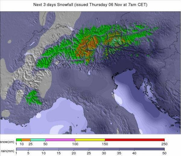 Prévisions Alpes 3 prochains jours