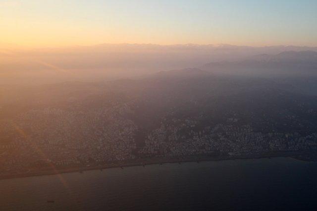 Trabzon et les montagnes en fond