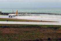 Atterrissage au bord de la mer Noire