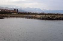 Les premières montagnes depuis la mer Noire
