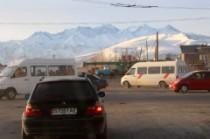Les montagnes depuis Bishkek