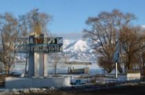 En direction du nord du lac Issyk Kul