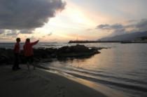 Repérage depuis la plage