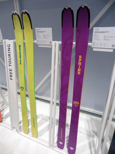 Un nouveaux ski orienté freeride chez Dynafit à 97mm au patin (homme à gauche, femme à drotie)