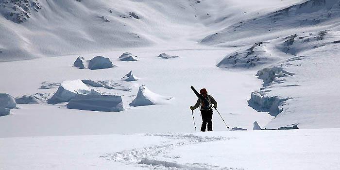 ski de randonnée au Groenland