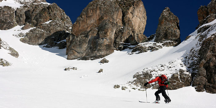 Ski de rando caché à l'Arbizon