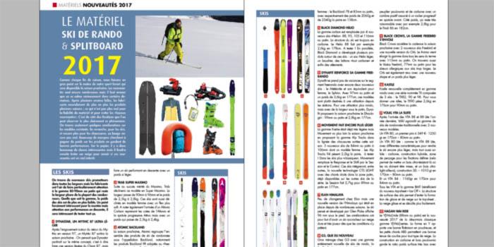 Le matériel ski de rando et splitboard 2017