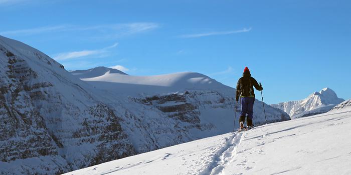 Ski de randonnée au Canada autour de l'Icefields Parkway