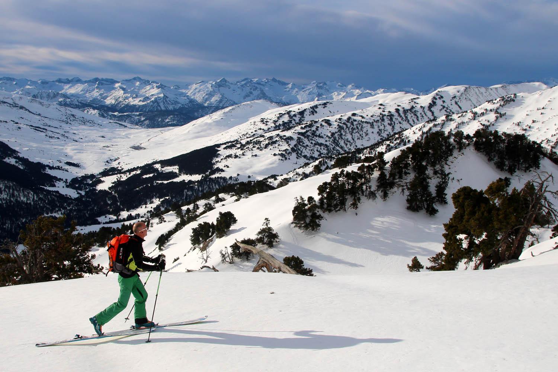 Ski de rando à Baqueira pour les pauvres