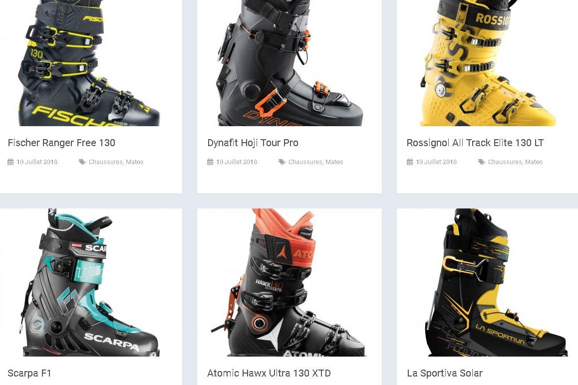 Tests chaussures ski de randonnée 2018/2019
