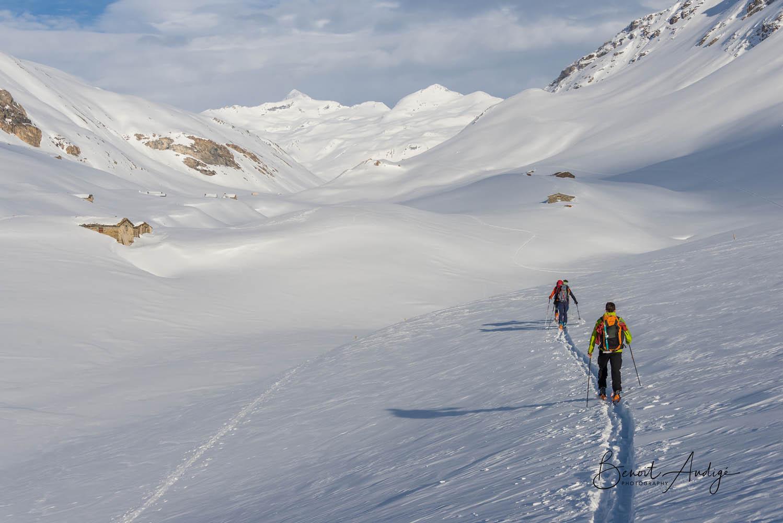 Raid à skis Modane - Val d'Isère