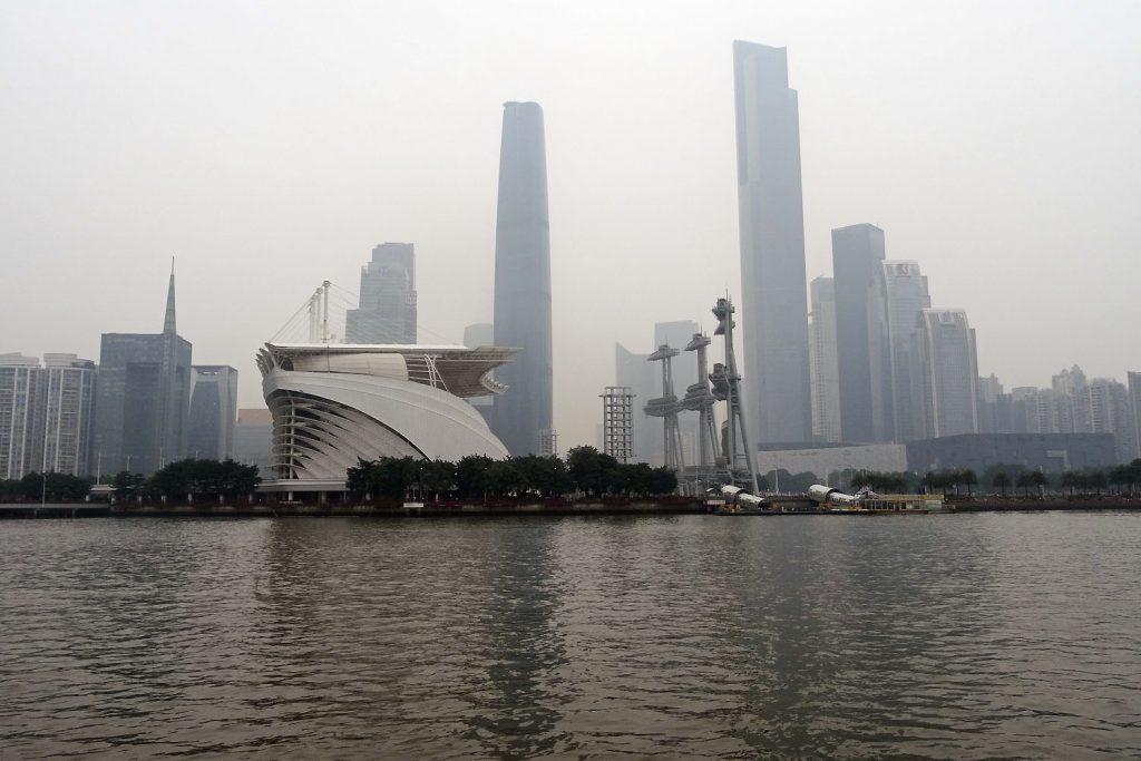 La ville de Guanghzou sous la pollution