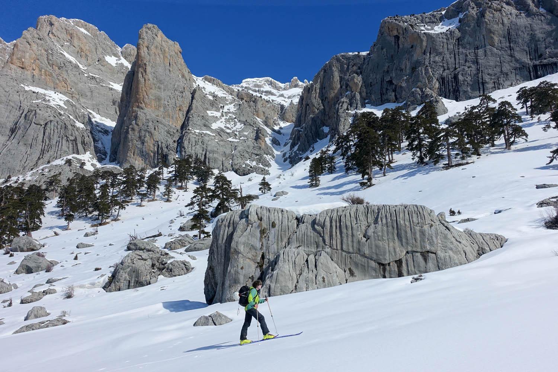 carte ski rando riviera turque Antalya montée