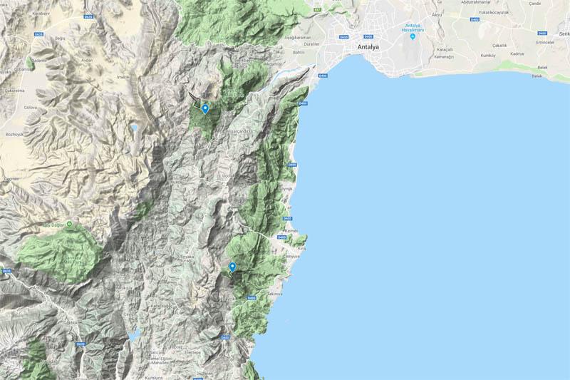 carte ski rando riviera turque Antalya