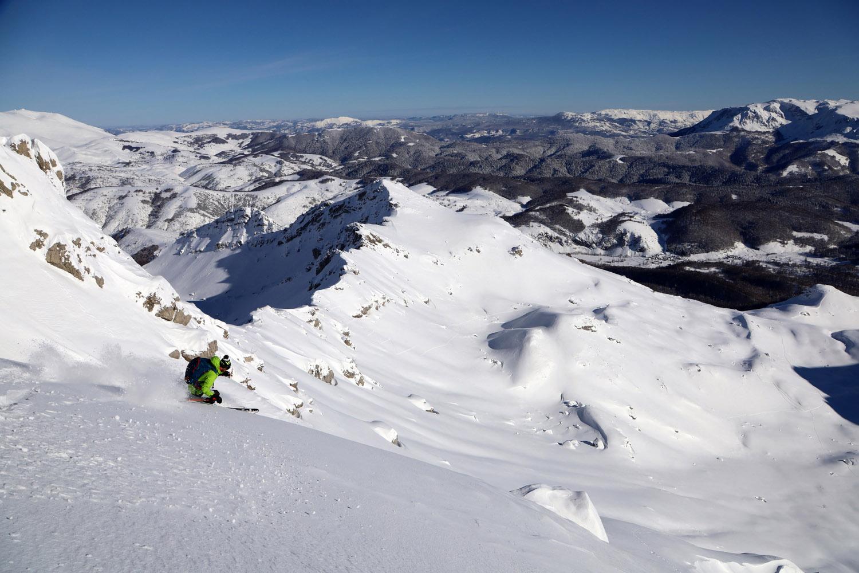 ski de rando en Bosnie aux portes de Sajarevo